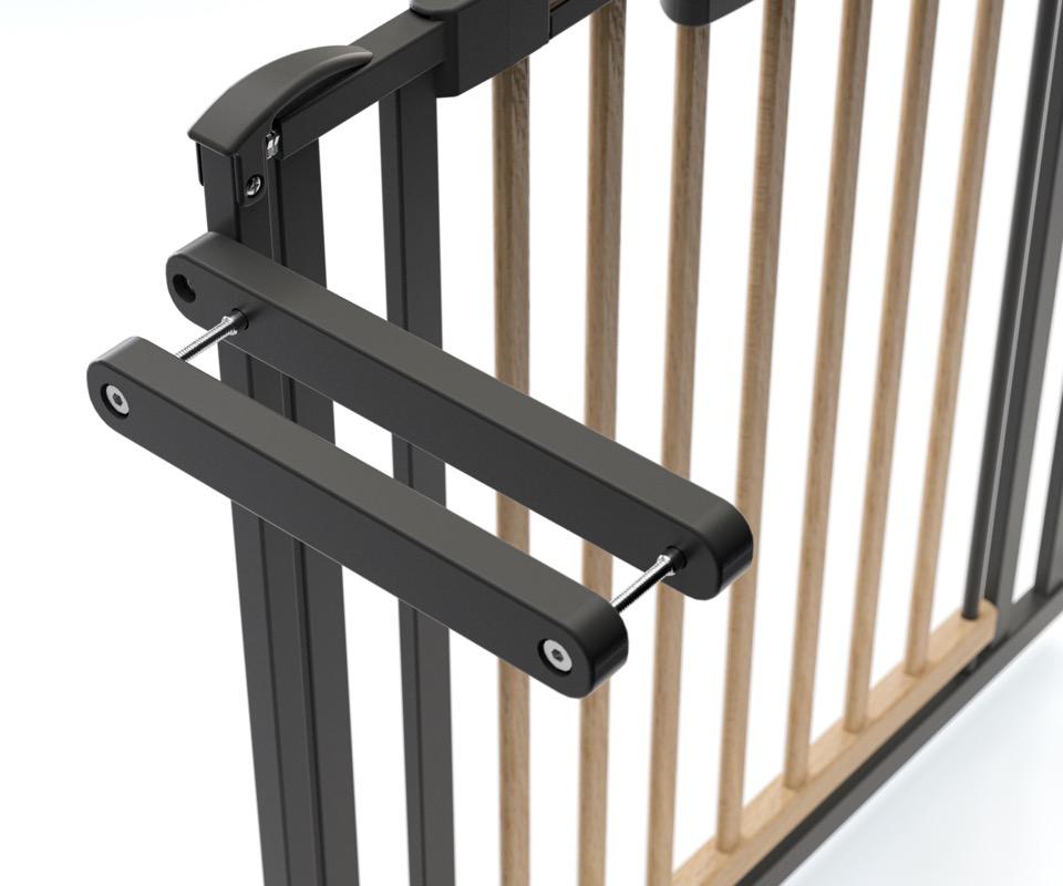 Barrière de sécurité Escalier Easylock Wood plus 84,5 - 92,5 cm naturel sans percer Geuther kit
