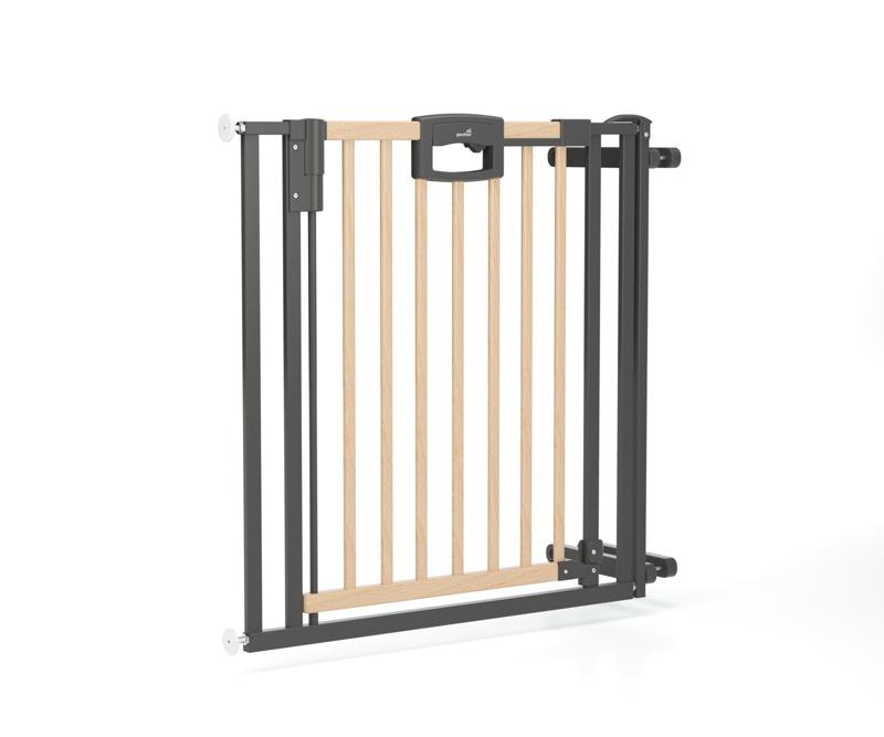 Barrière de sécurité Escalier Easylock Wood plus 84,5 - 92,5 cm naturel sans percer Geuther de côté