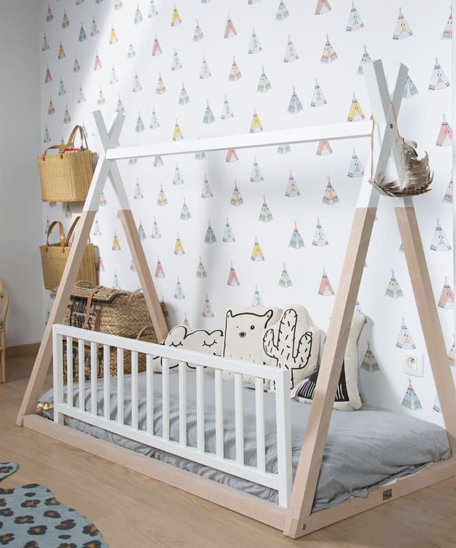 Barrière de lit en bois 120 cm Childhome Lit
