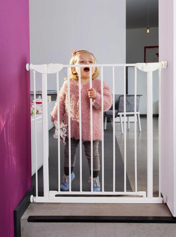 Barrière de sécurité Eltra 75 – 81 cm Blanc Childhome Ambiance