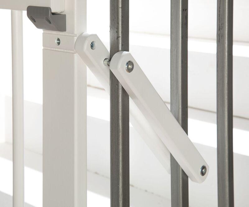 Barrière de sécurité plus pour escalier 67-107 cm en bois Geuther Détail