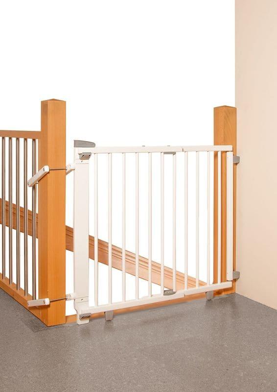 Barrière de sécurité plus pour escalier 67-107 cm en bois Geuther Escalier