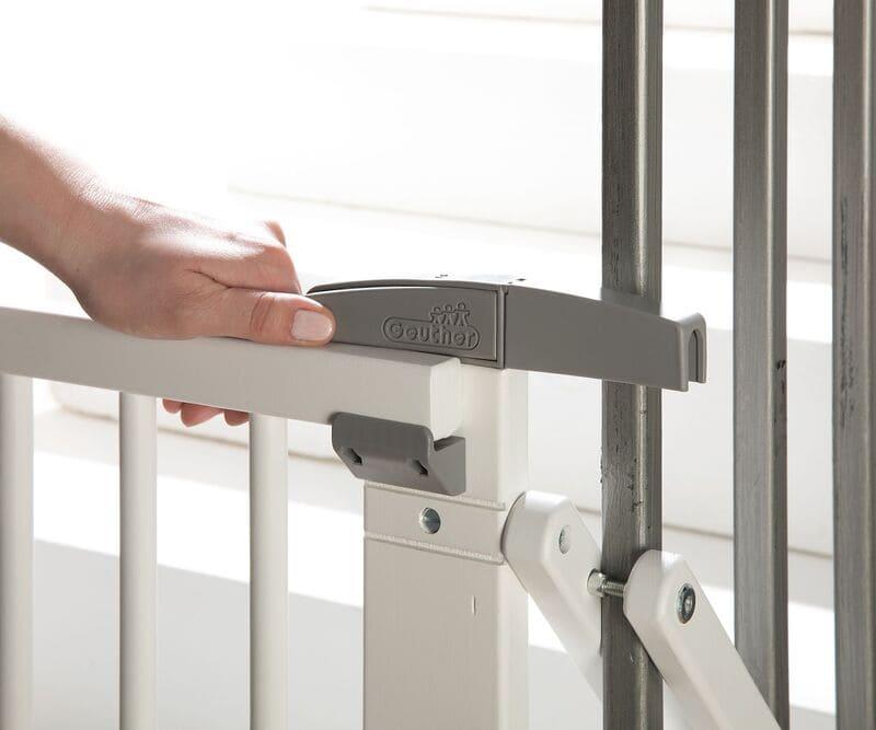 Barrière de sécurité plus pour escalier 67-107 cm en bois Geuther Utilisation