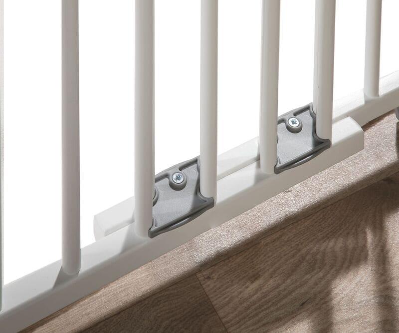 Barrière de sécurité plus pour escalier 67-107 cm en bois Geuther Vis