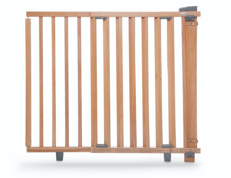 Barrière de sécurité plus pour porte 86-121 cm 93,5-133 cm en bois naturel ouverture Geuther Produit