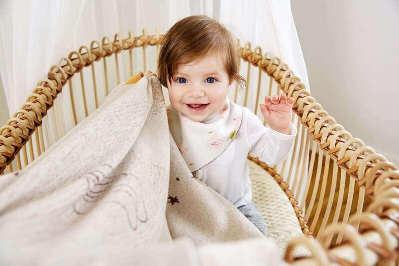Bavoir bandana en mousseline de coton Lassig Ambiance