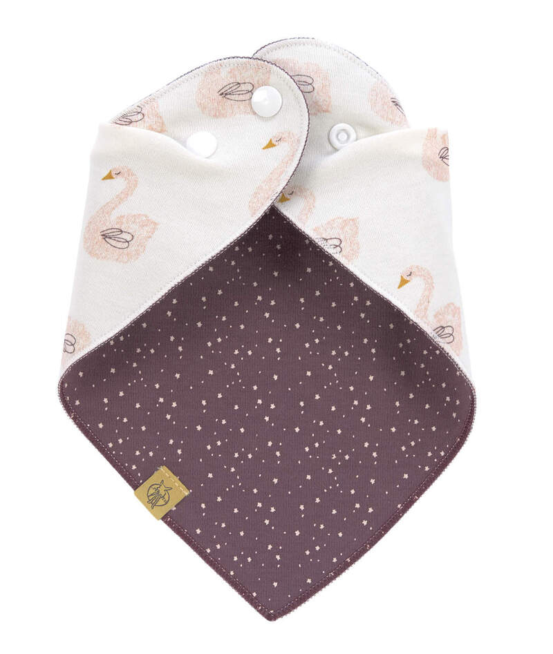 Bavoir bandana en mousseline de coton Lassig Fermeture