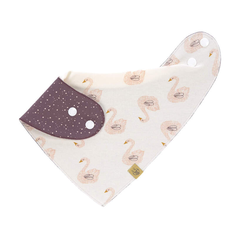 Bavoir bandana en mousseline de coton Lassig Réversible