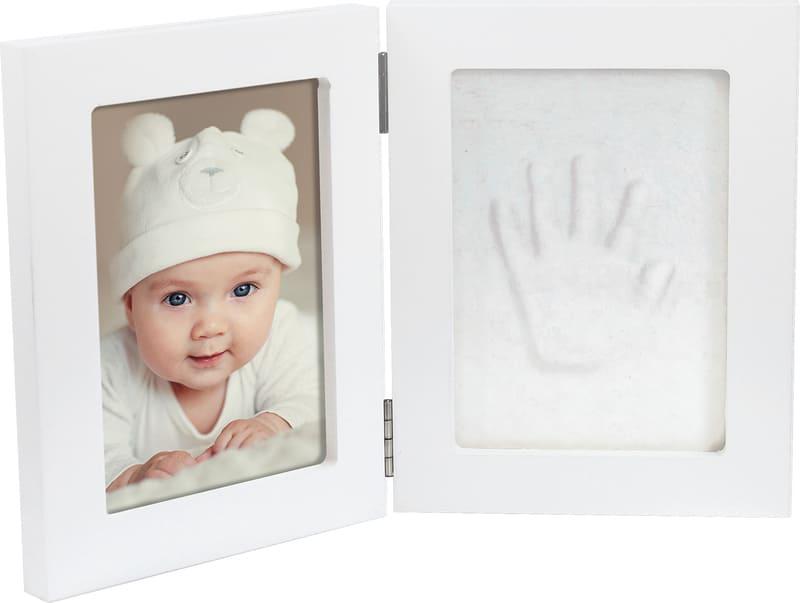 Boite empreinte main cadre double photo coffret cadeau Dooky cadre