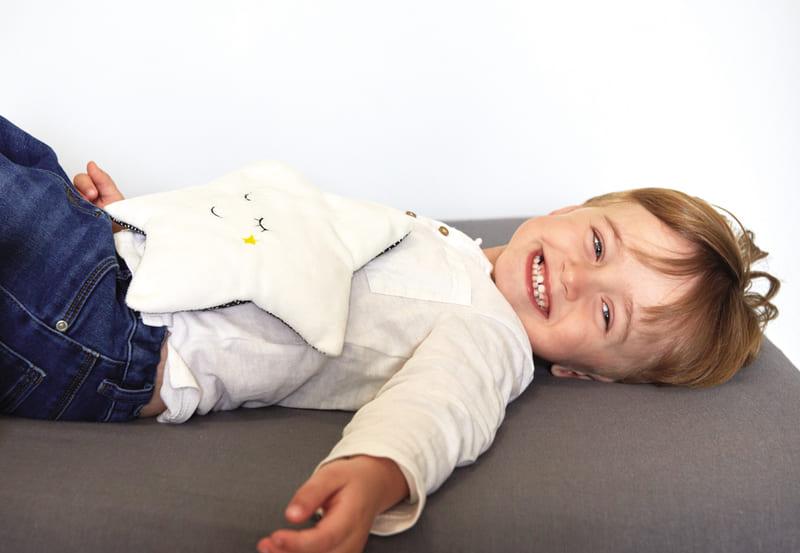 Bouillotte en graines de lin Mon étoile relaxante Candide Enfant