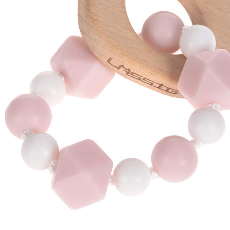 Bracelet de dentition en bois et silicone Little Chums Souris Lassig Détail