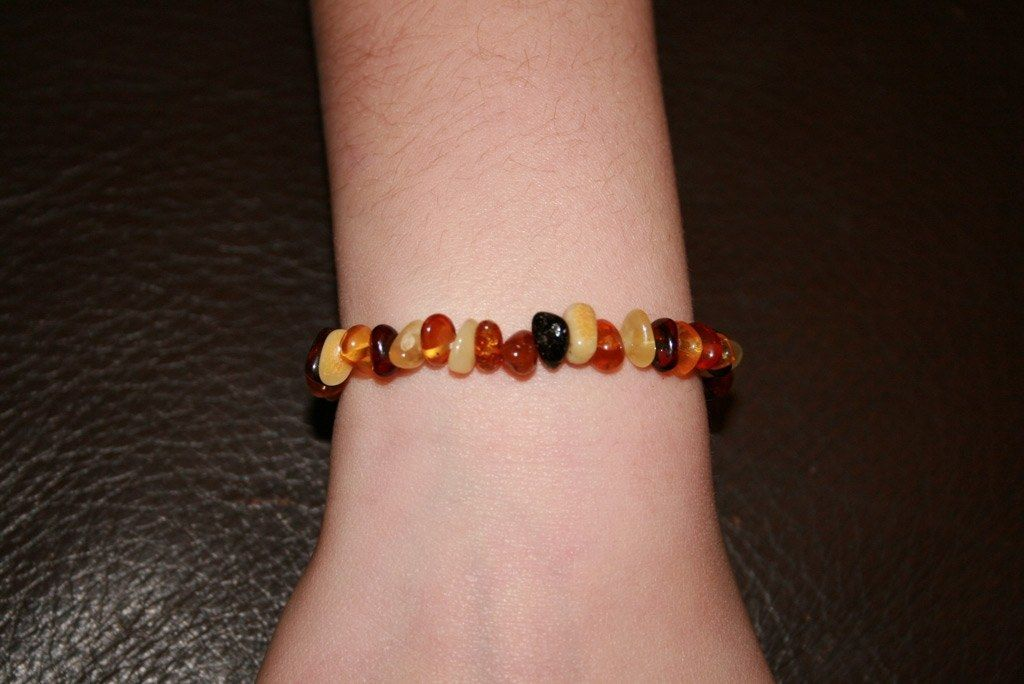 Bracelet d'Ambre baroque plat multicolore bambinou.com