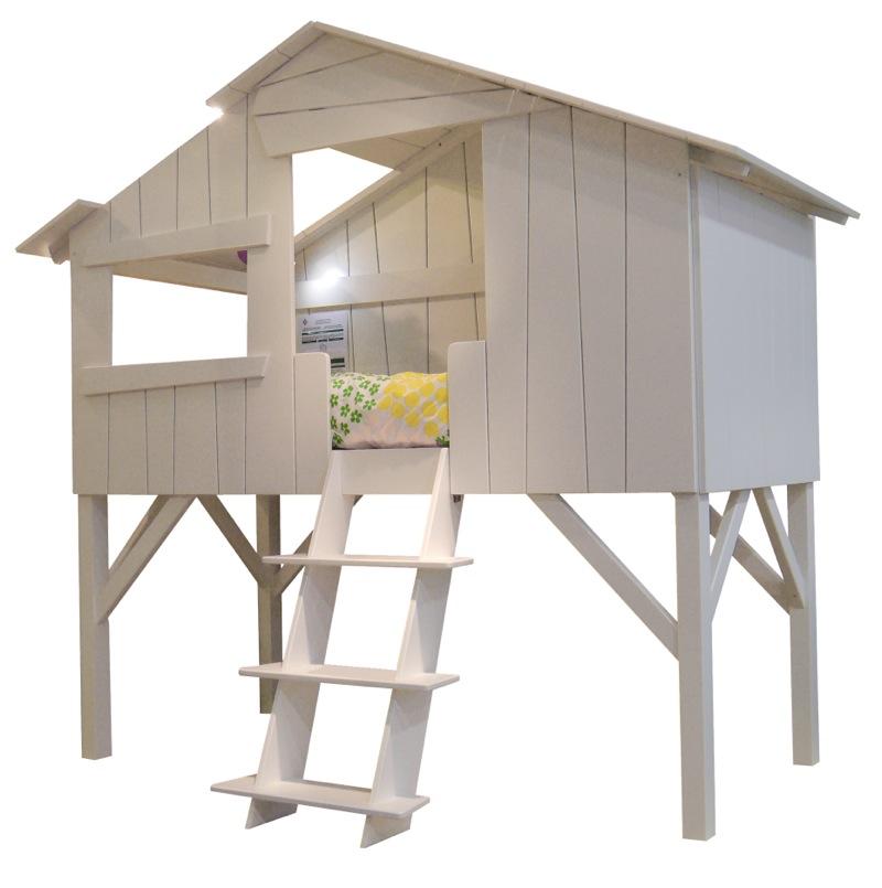 Lit enfant cabane simple intérieur mathy by bols bambinou