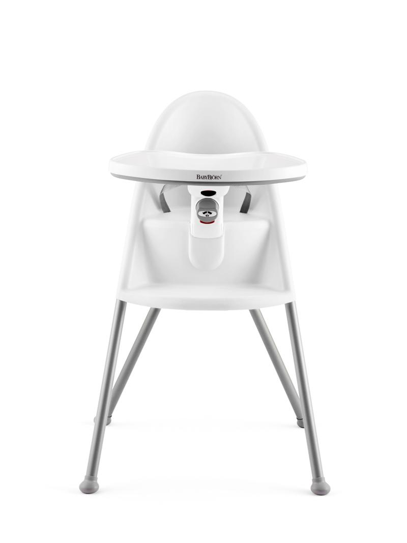 Chaise haute avec harnais 3 points blanche Babybjörn