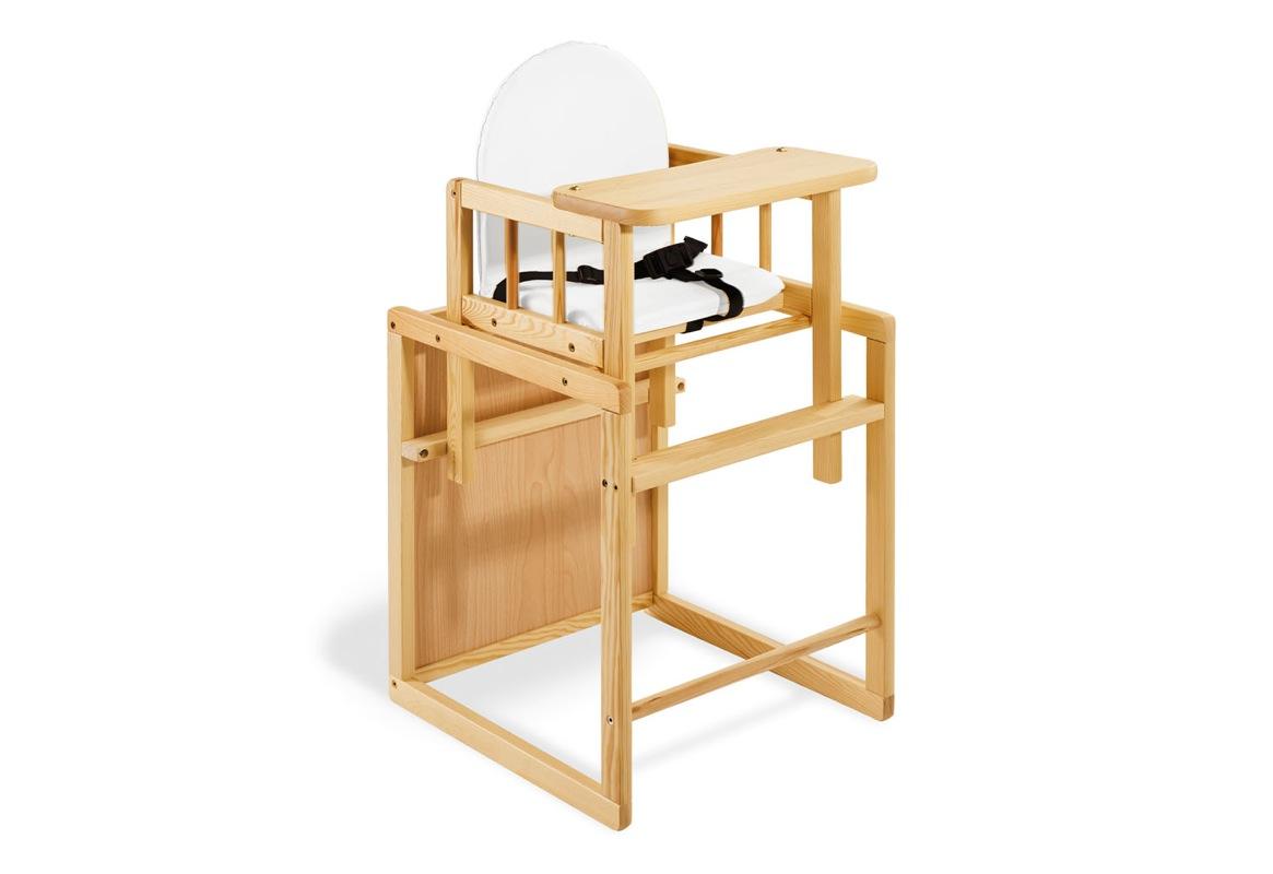Chaise haute combinée Lene naturel Pinolino