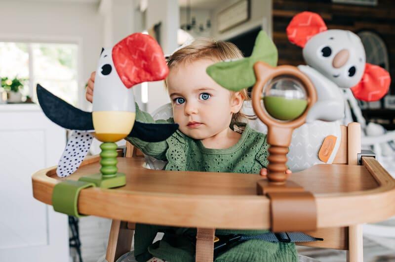 Chaise haute évolutive 3 en 1 en bois Boho Chic Tiny Love Bébé