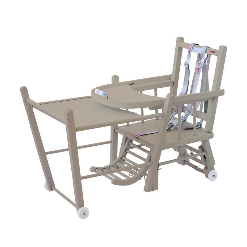 Chaise haute Marcel transformable barreaux Combelle table