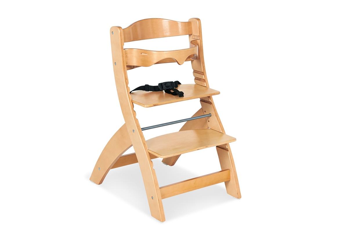 Chaise haute Thilo naturel Pinolino