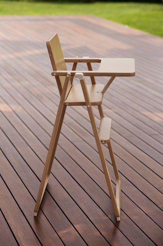 Chaise haute pliante Supaflat hêtre Supaflat Bambinou