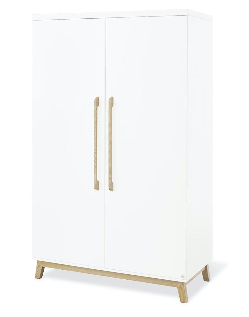 Chambre Riva : lit évolutif, commode large, armoire 2 portes Pinolino Armoire