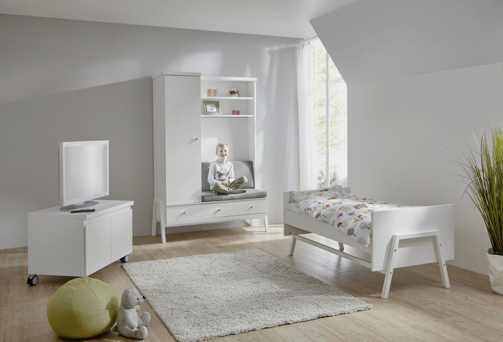 Armoire avec commode a langer integree HOLLY BLANC Schardt BamBinou