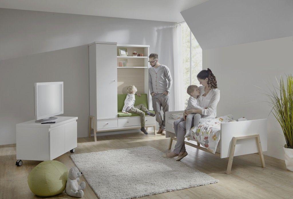 Chambre Holly Nature : lit kit-transformation armoire combinée Schardt BamBinou