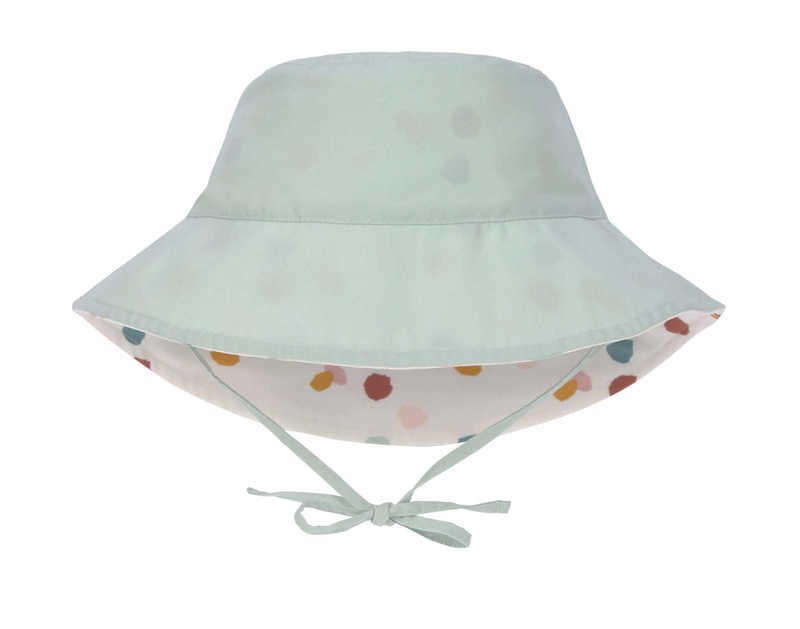 Chapeau anti-UV réversible Pois blanc Lassig Réversible