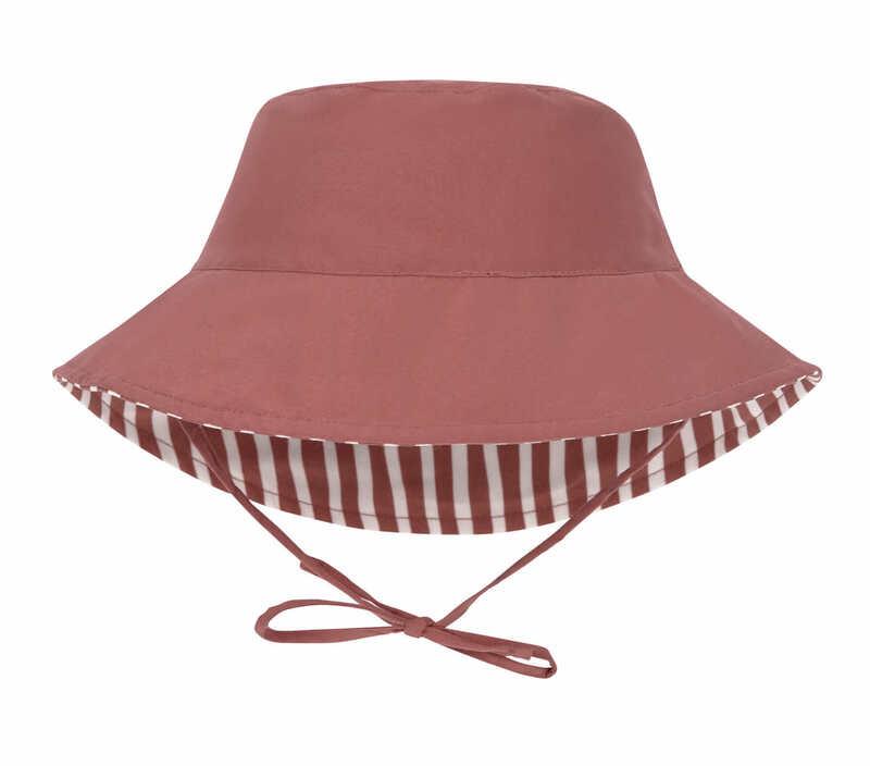 Chapeau anti-UV réversible Rayé rouge Lassig Réversible