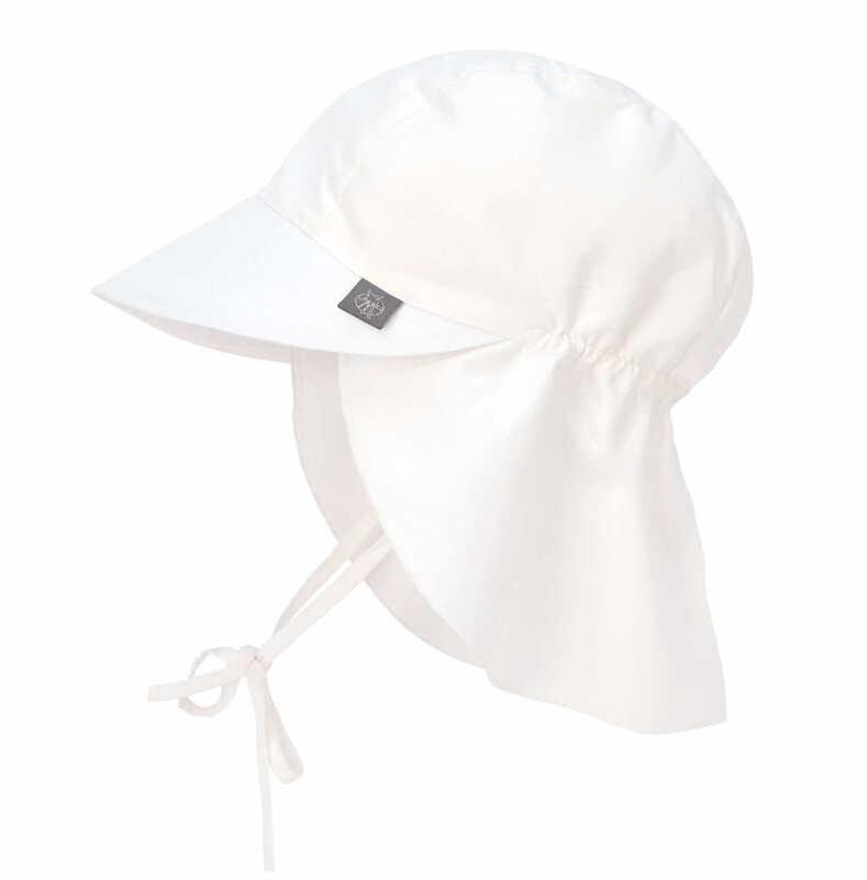 Chapeau de soleil protège-nuque Blanc Lassig Produit