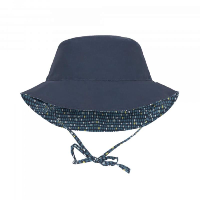 Chapeau de soleil réversible bleu à pois Lassig 2