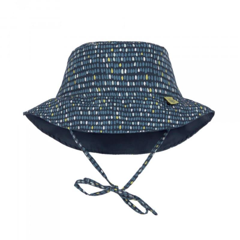 Chapeau de soleil réversible bleu à pois Lassig 1