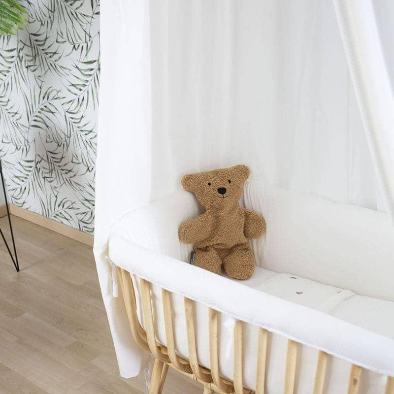Ciel de lit enfant et tapis de jeu jersey 120x120 cm écru Childhome zoom