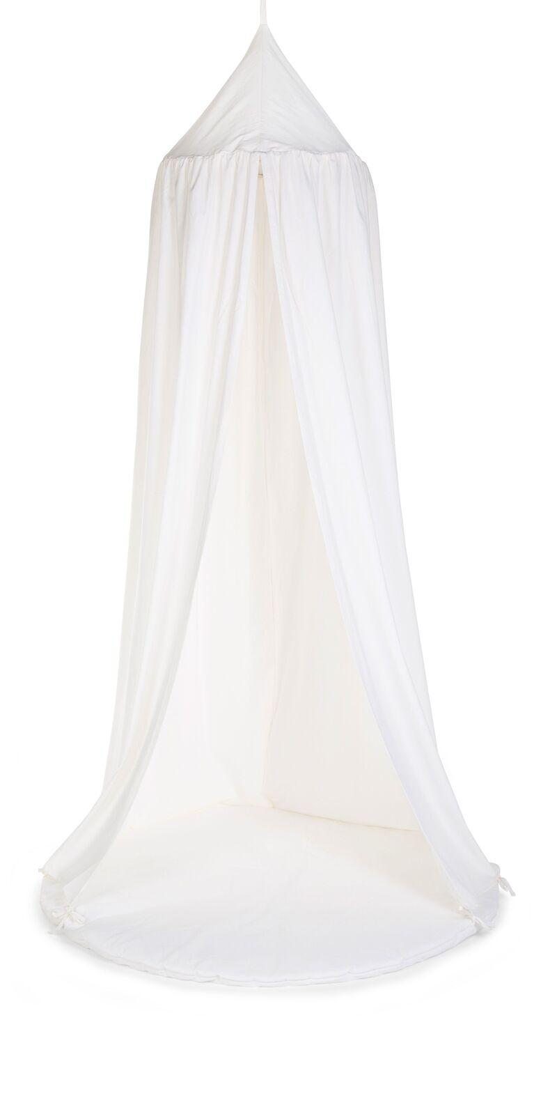 Ciel de lit enfant et tapis de jeu jersey 120x120 cm écru Childhome