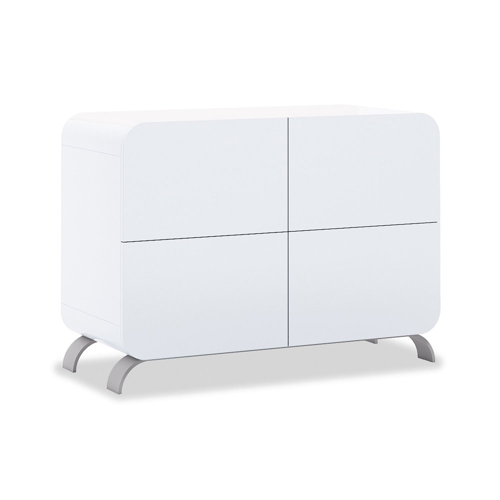 Commode 4 tiroirs Premium Kurve White Alondra