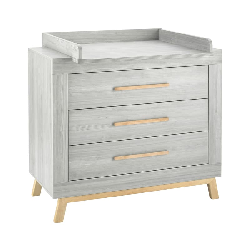 Chambre Miami Gris Lit Kit-Transformation Commode Schardt 7