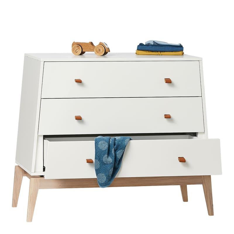 Chambre Luna Blanc : lit, commode, armoire Leander Commode accessoires