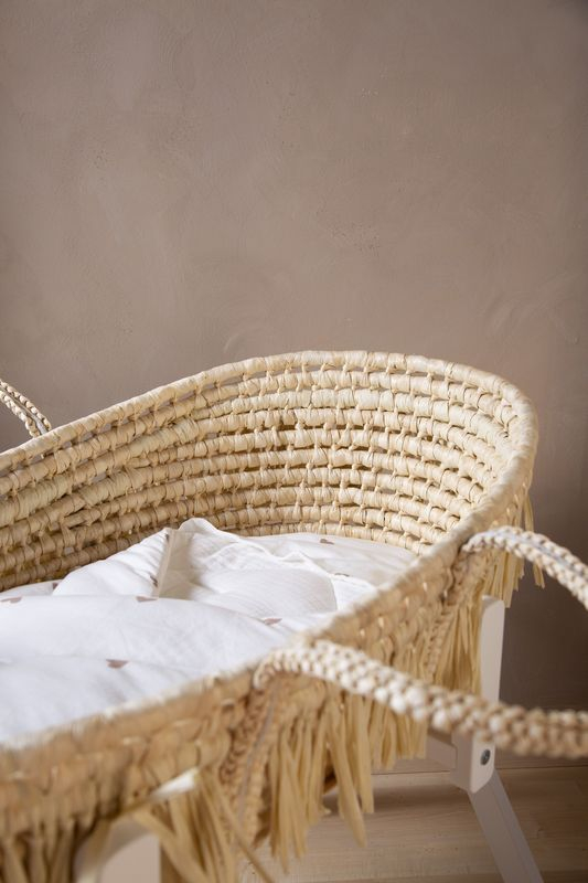 Couverture enveloppante 75 x 75 cm Jersey et Mousseline Hearts Childhome Berceau