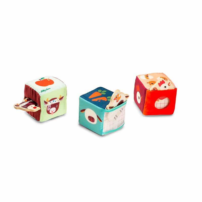 Cubes d'activités cache cache Ferme Lilliputiens
