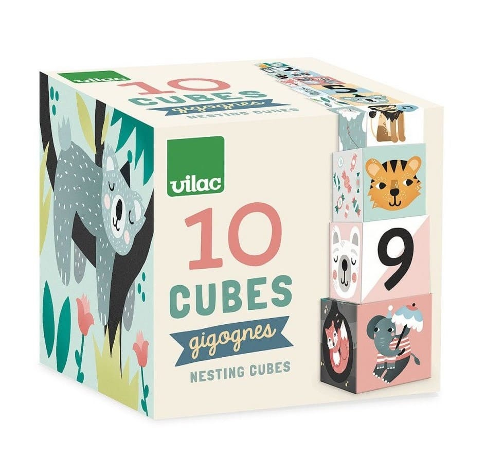 Cubes gigognes les animaux Michelle Carlslund Vilac Packaging