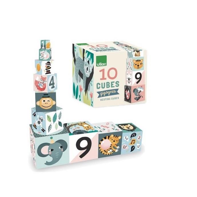 Cubes gigognes les animaux Michelle Carlslund Vilac Produit