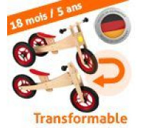 Tricycle draisienne bois naturel 2 in 1 Bike