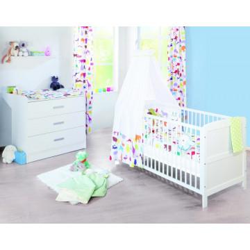 Chambre bébé Victoria breit blanc Lit, commode, armoire Pinolino Produit