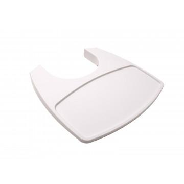 Tablette chaise haute Leander blanche vue de côté