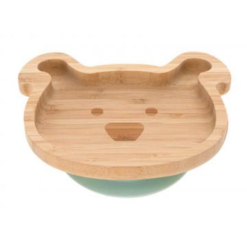 Assiette en bois de bambou Little Chums Chien Lassig Produit