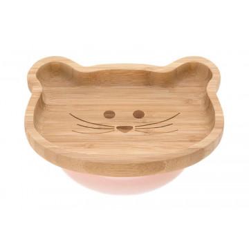 Assiette en bois de bambou Little Chums Souris Lassig Produit