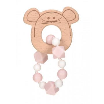 Bracelet de dentition en bois et silicone Little Chums Souris Lassig Produit