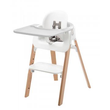 Chaise haute pieds bois de hêtre, baby set et plateau Steps Stokke