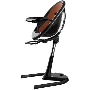 Chaise haute transat évolutive Moon noire Mima BamBinou