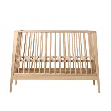 Set lit bébé Linea bois de chêne et flèche de lit Linea Leander 1