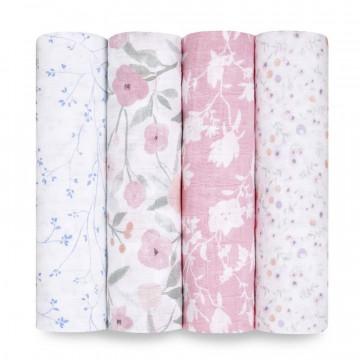 Lot de 4 maxi langes Cotton Muslin 120 x 120 cm Ma Fleur Aden + Anais Produit